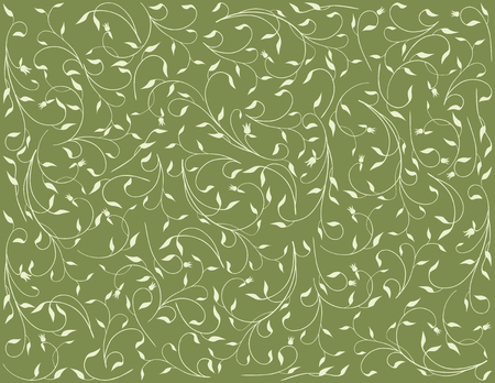 floral background of the delicate sprigs. Illustration