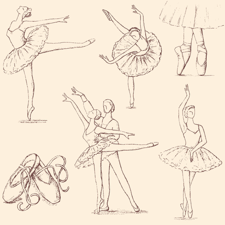 drawings of the ballet theme
