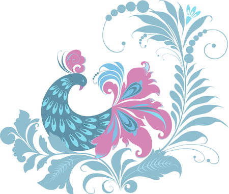 image of the decorative bird. Stock Vector - 80148463