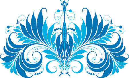 The vector image of a decorative fantastic bird. Illustration