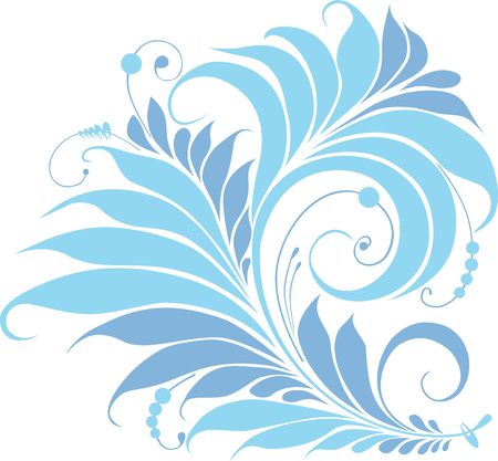 The vector image of a fantastic decorative flower.