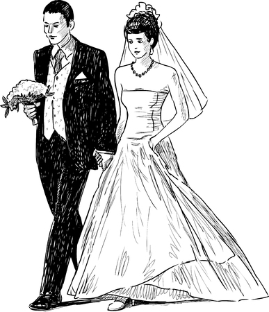 wedded: Vector image of the newleads.