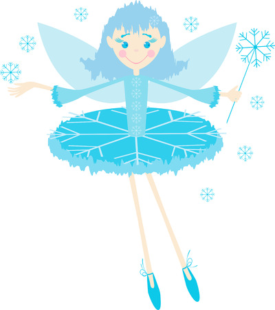 The vector image of a winter elf girl.
