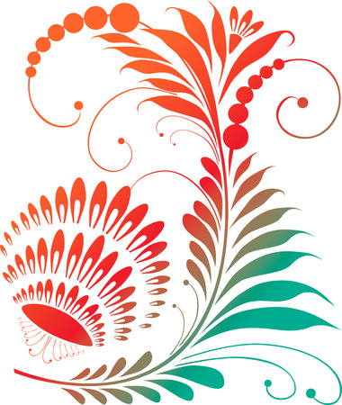 flexibility: The vector image of a fantastic decorative flower.