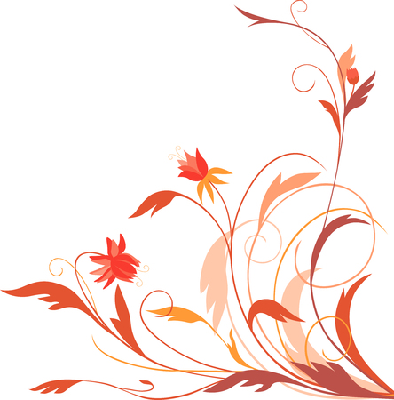The vector image of a decorative fairy flower.