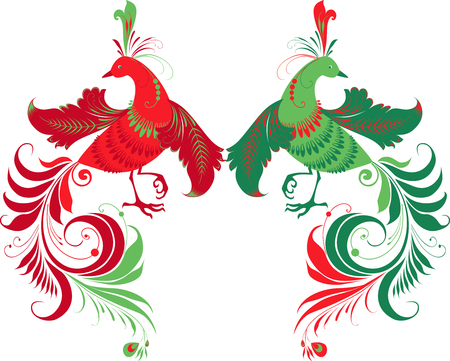 The vector image of the decorative fairy birds. Stock Vector - 80317575