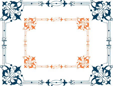 Vector image of a decorative ornamental frame.