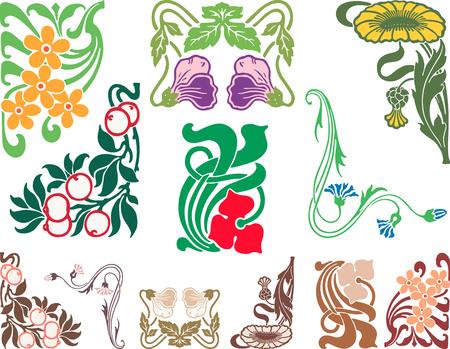 装飾的な花のデザイン要素のベクター画像。  イラスト・ベクター素材