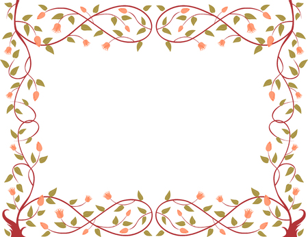 The vector image of a decorative framework from a winding tree.