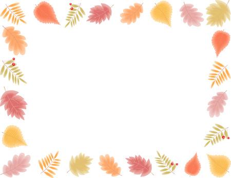 Het vectorbeeld van een kader van de herfstbladeren.