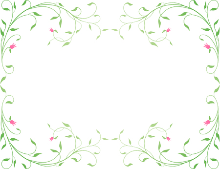 The vector image of a decorative framework from a green gentle plant
