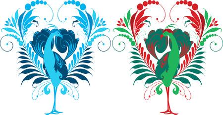 The vector image of a decorative fairy bird. Ilustrace