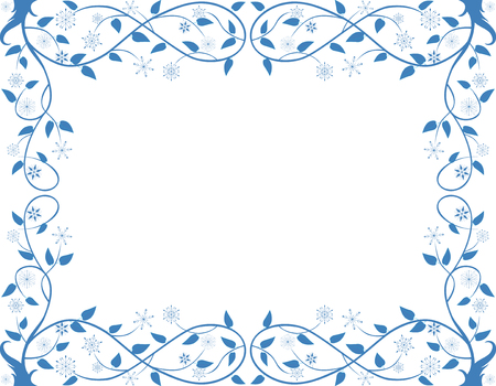 Vector image of the decorative floral frame.