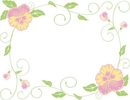 The vector framework of the decorative pancies Ilustração