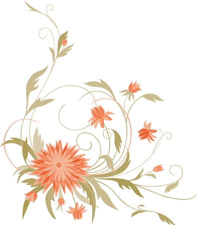The vector image of a decorative flower.