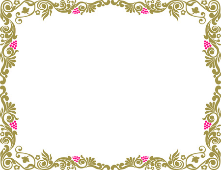 The vector image of a decorative frame.