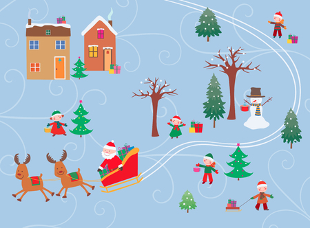 The vector image of the christmas time. Иллюстрация