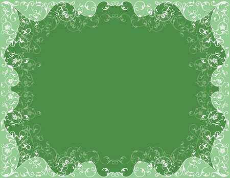 flexibility: The vector design of a green  ornamental frame.