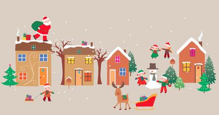 クリスマスの時期のベクター画像。