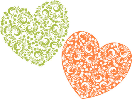 装飾花の心のベクトル画像。