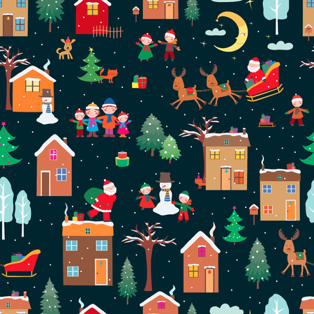 Vector pattern of the happy Christmas.