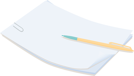 The vector image of the paper for records.