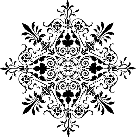 The vector image of an old fashion design ornament.