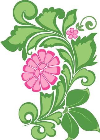The vector image of a decorative flower Illustration