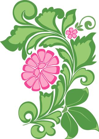 The vector image of a decorative flower Ilustração
