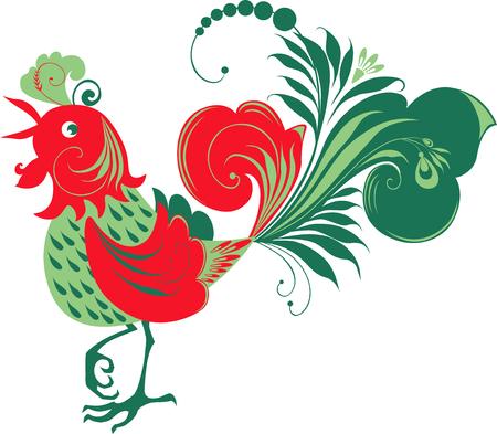 The vector image of a fairy decorative bird. Stock Vector - 80630973