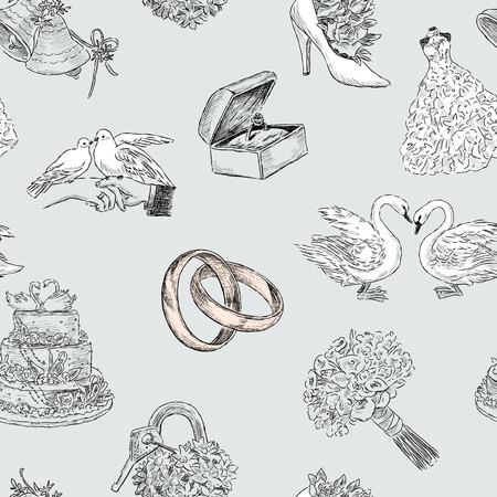 벡터 패턴의 결혼식 기호입니다.