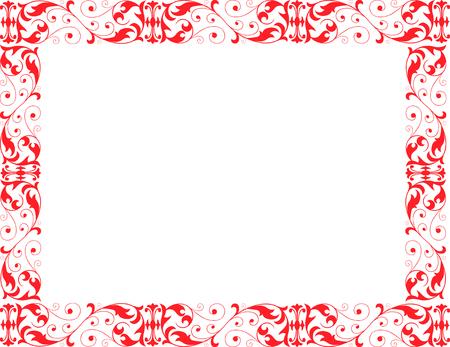 Vector image of the decorative ornamental framework. Reklamní fotografie - 80709483
