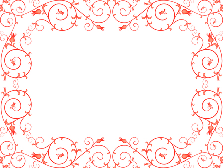 The vector image of a decorative patterned frame.