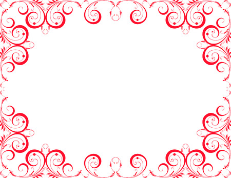 The vector image of a decorative ornamental frame.