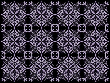 ヴィンテージ幾何学的装飾のベクトル背景