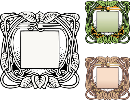 Vector drawing of the decorative vintage frameworks Illustration