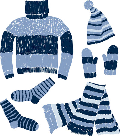 The warm knitwear for cold weather