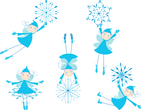 elves: The vector image of the playful winter elves. Illustration