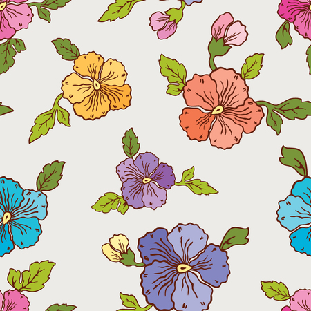Vector background of the decorative pancies