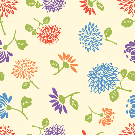 aster: Pattern of the abstract garden flowers Illustration