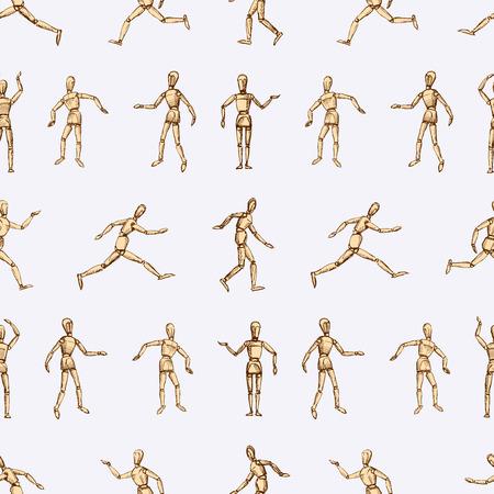 Images vectorielles du mannequin humain dans diverses positions. Banque d'images - 82355032