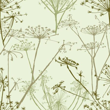 Vector pattern of the umbrella grass