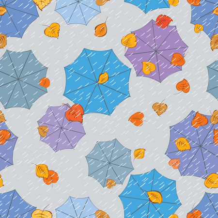 Vector abstract background of the autumn rain
