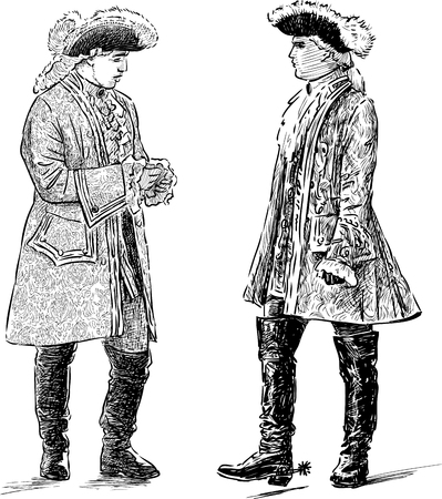Sketch of the noblemen talking