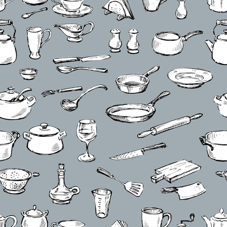 drawing pin: Pattern of the kitchenware Illustration