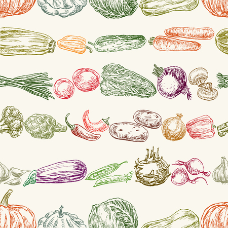 Collection of the various vegetables