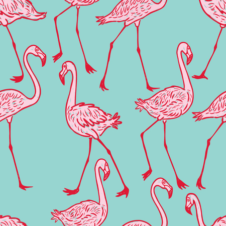 striding: Pattern of the striding flamingos