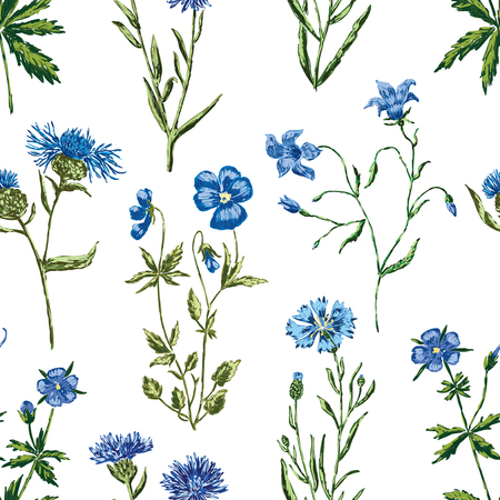 pattern of the blue wildflowers