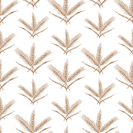 seamless background of the bunches of wheat