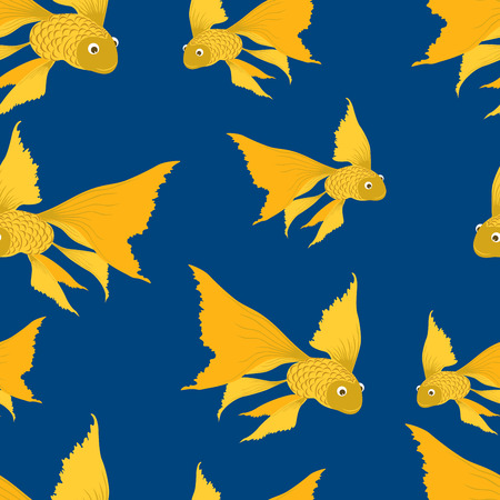 Pattern of the gold fishes in the sea